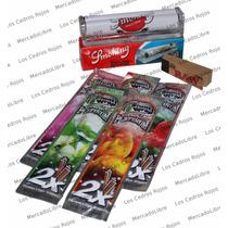 Paquete Roladora Liar Blunt Wrap ,zig Zag King Size, Tabaco