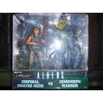 Dwayne Hicks Vs Alien Xenomorph Warrior 2 Pack Neca Aliens