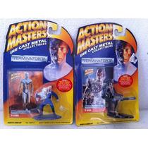Lote De 2 T-1000 Y T-800 T2 Die Cast Metal Action Masters