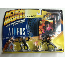Paquetede 4 Figuras Aliens Die Cast Metal Action Masters