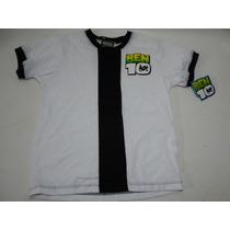 Camiseta Playera Naranja Ben 10 Talla 6 Niño Nueva