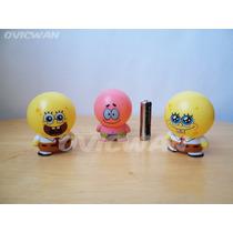 Tres Figuras Cabezones De Bob Esponja Y Patricio Cn26