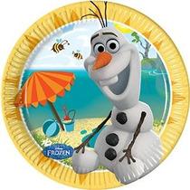 1 X 8 Frozen Summer Party Snowman Olaf Desechables Disney 7