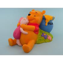 Alcancia Vintage Winnie Pooh Y Pligget Disney Drecuerdo