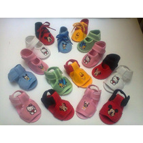 Zapatos De Bebe De Disney,mickey,mimi,cars,pooh,hello Kitty.