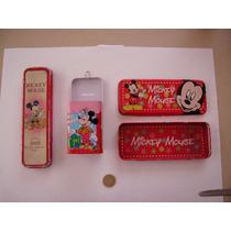 Mickey Mouse Lote De 2 Cajas Metalicas