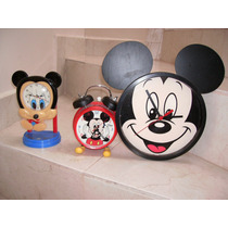 Mickey Mouse Lote De 4 Relojes