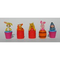 Coleccion De Winnie Pooh Tipo Huevo Kinder 5 Figuritas