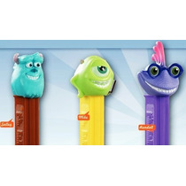 Pez Dispensador Dulces Monsters Inc Juguete 3 Pack Dulcero