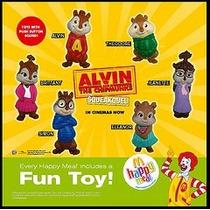 Figuras Alvin Y Las Ardillas 2 Mcdonalds Nuevas Hablan