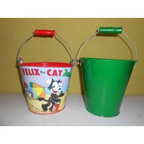 Gato Felix Cubetas Metalicas 16 Cms