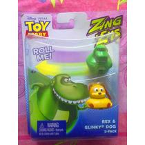 Toy Story Set De Figuras De Perro Slinky Y Rex