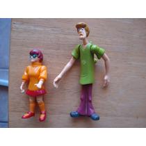 Scoobe Doo 2 Figuras Miden 14 Y 10 Cms