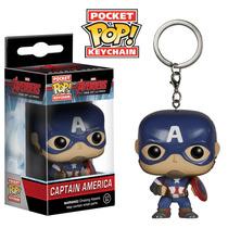 Funko Pop Llavero De Capitan America Vinyl Avengers