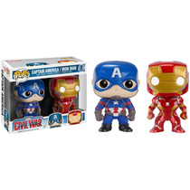 Funko Batman Dawn Justice + Captain America Civil War Set 2