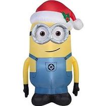 Inflable De Navidad Minion De Dave Por Gemmy