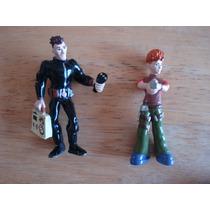 2 Mini Figuras De Policias Miden 6 Cms