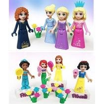 Set De Minifiguras De Las Princesas Bella Blanca Jazmin Elsa