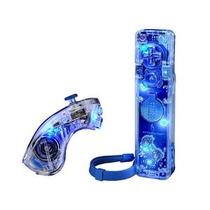 Afterglow Control Remote & Chuck Para Nintendo Wii Azul Nuev