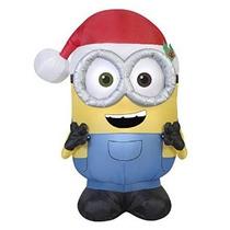 Navidad Inflable Minion Bob Por Gemmy
