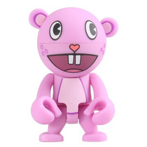 Muñeco Trexi Toothy Rosa Happy Tree Friends Cabeza Gira