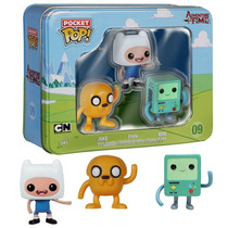 Funko Pop Adventure Time Pocket 3 Pack Finn Jake Bemo Hora D