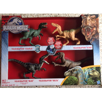Jurassic World Set De 4 Dinosaurios Marca Hasbro Nuevo