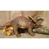 Dinosaurios, Figura De Triceraptos De 50 Cm.