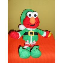 Peluche Elmo Duende Navidad Canta Y Prende Luz 34 Cms
