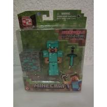 Figura De Minecraft Steve With Diamono Armor !!!