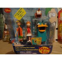 Paquete De Phineas Y Ferb, Candace Con Disfraz De Perry