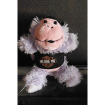 Peluche Chango Biker Monkey Ape Rebelde Morado Love Cycles