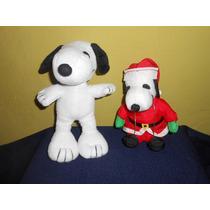Lote 2 Peluches De Snoopy 21 Y 17 Cms
