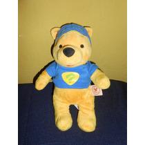 Peluche Winnie Pooh Super Detective 21 Cms Original Disney