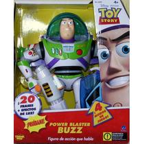Toy Story Buzzlightyear Interactivo Con Rifle Desintegrador