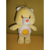 Peluche Osito Cariñosito Amarillo Con Sol 22 Cms Original