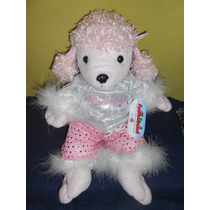 Peluche Perrita French Poodle Anmaland 38 Cms Con Ropa