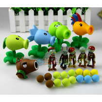 Coleccion 5 Figuras Peashooter Plants Vs Zombies Animecun
