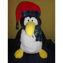 Peluche Pinguino Navideño Marca Gund 50 Cms Suavecito