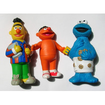 Figuras De Plaza Sesamo Beto, Enrique Y Come Galletas 3x1