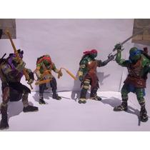 Tmnt Tortugas Ninja De La Pelicula Set 4 Piezas Botleg