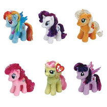 Set De 6 Peluches My Little Pony Calidad Ty Importado Pinkie