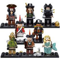Piratas Del Caribe Jack Sparrow Sirena Compatibles Con Lego