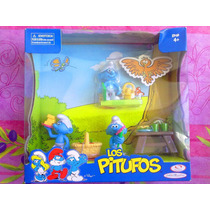 Los Pitufos Set De Figuras De Dia De Campo