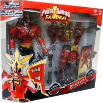Power Ranger Samurai Shogun Battlized Guardabosques Fuego