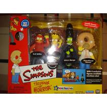 Playmates Simpsons Treehouse Of Horror Casita Del Horror Set