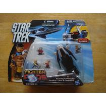 Nave Y 4 Mini Figuras Star Trek Fighter Pods Nueva