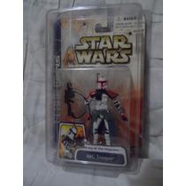 Lote 5 Figuras Aotc Star Wars Variante Arc Rojo Clone Jedi