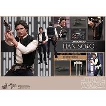 Hot Toys Star Wars Han Solo Exclusivo Nuevo En Mano 1/6 30cm