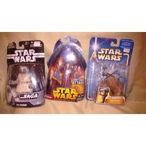 Oferta Lote 3figuras Star Wars Saga Cody Variante Aayla Jedi